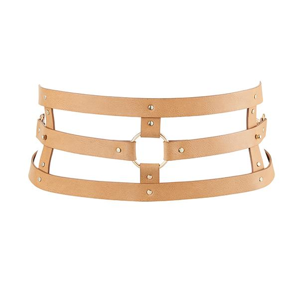 Bijoux Indiscrets – Maze Wide Belt Brown