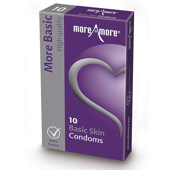 MoreAmore – Condom Basic Skin 10 pcs