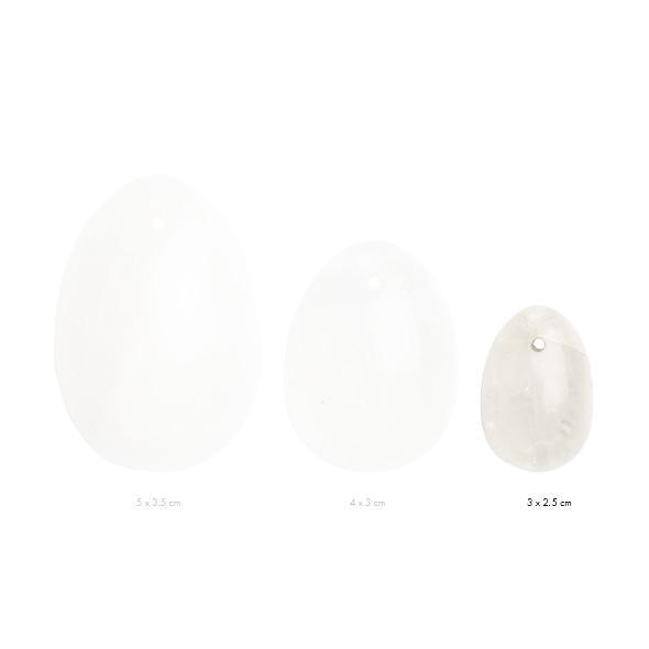 La Gemmes – Yoni Egg Clear Quartz (S)