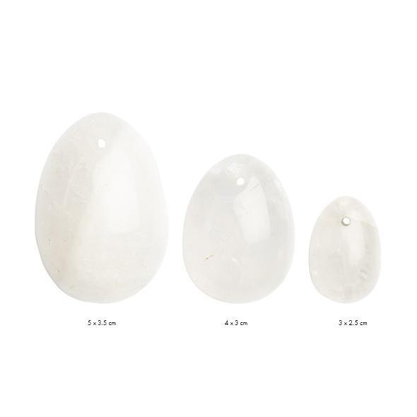 La Gemmes – Yoni Egg Set Clear Quartz (L-M-S)