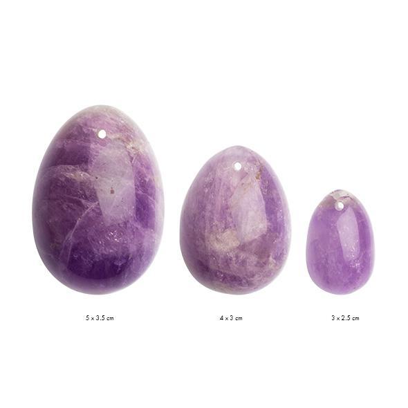La Gemmes – Yoni Egg Set Pure Amethyst (L-M-S)