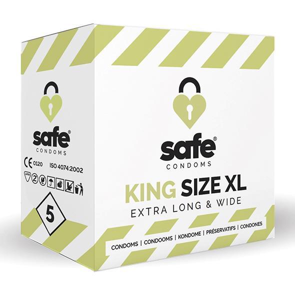 Safe – King Size XL Condoms 5 pcs