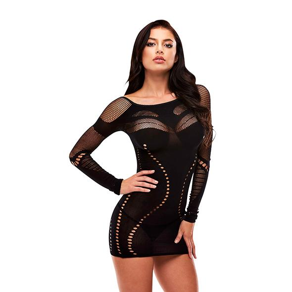 Lapdance – Long Sleeve Mini Dress Black